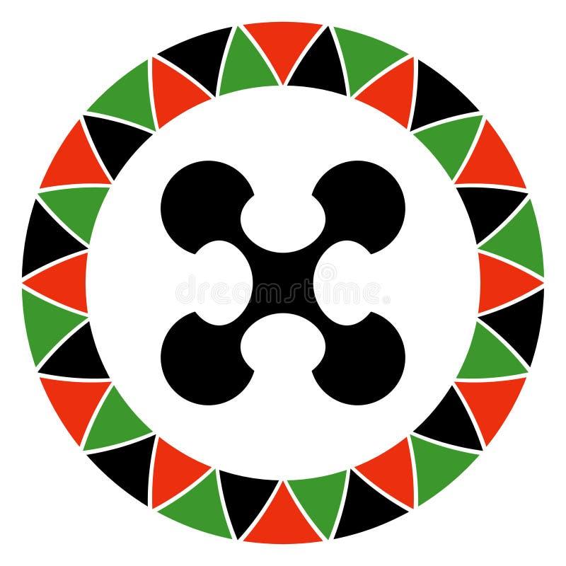 Principe de Kwanzaa d'oeuvre collective et de responsabilité illustration stock