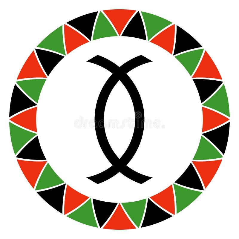 Principe de Kwanzaa des sciences économiques coopératives illustration libre de droits