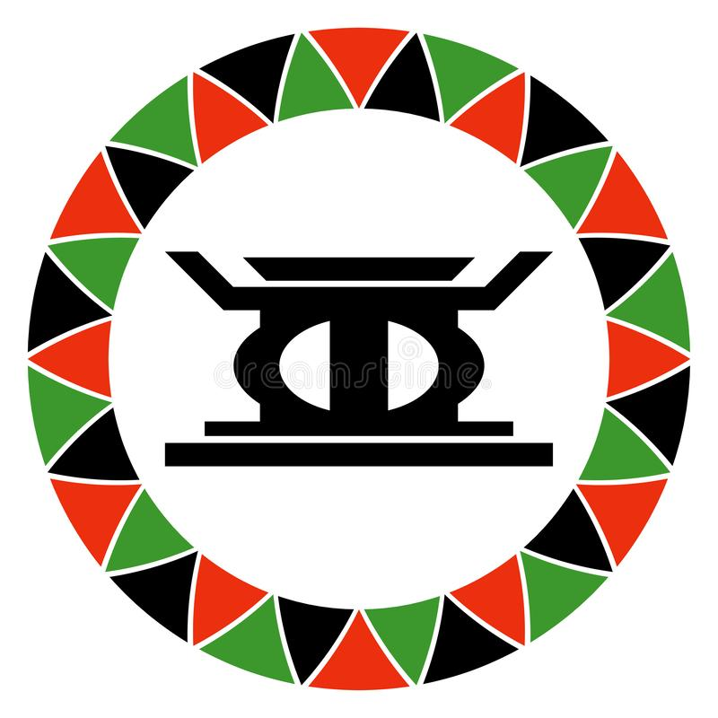 Principe de Kwanzaa de l'autodétermination illustration stock