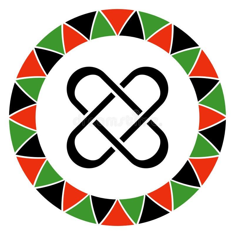 Principe de Kwanzaa de l'unité illustration libre de droits