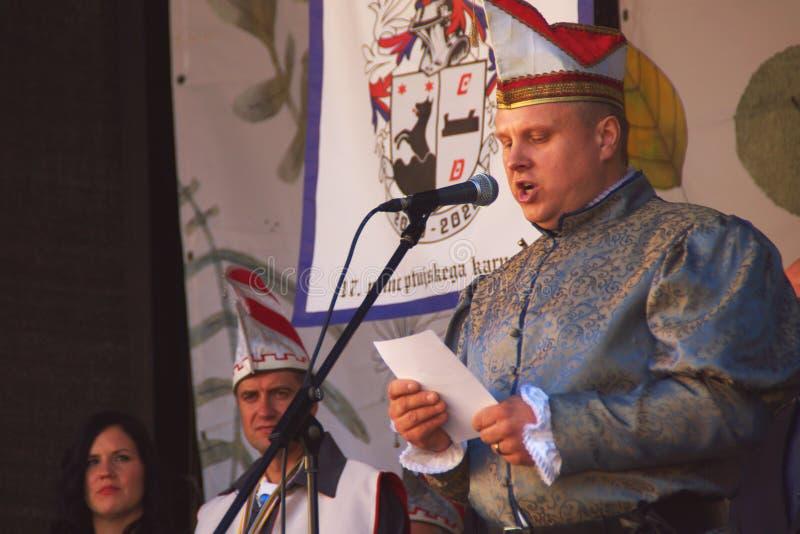 Principe di carnevale, Ptuj, Slovenia fotografia stock