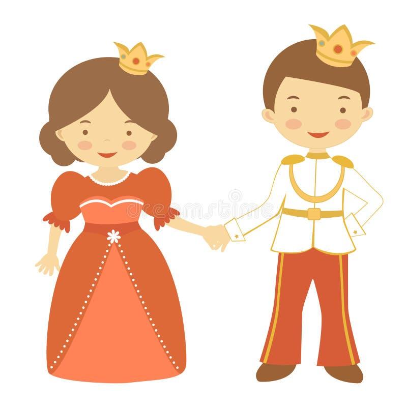 Principe e principessa illustrazione vettoriale