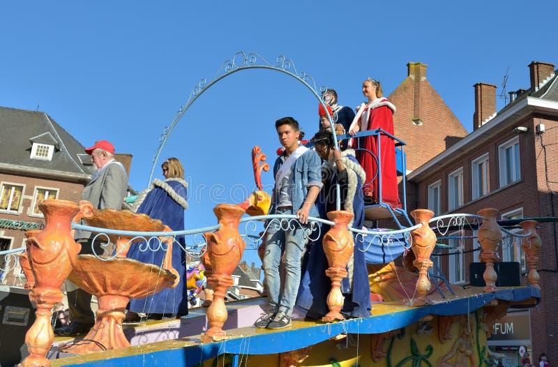 Principe e principessa del carnevale in Nivelles immagini stock