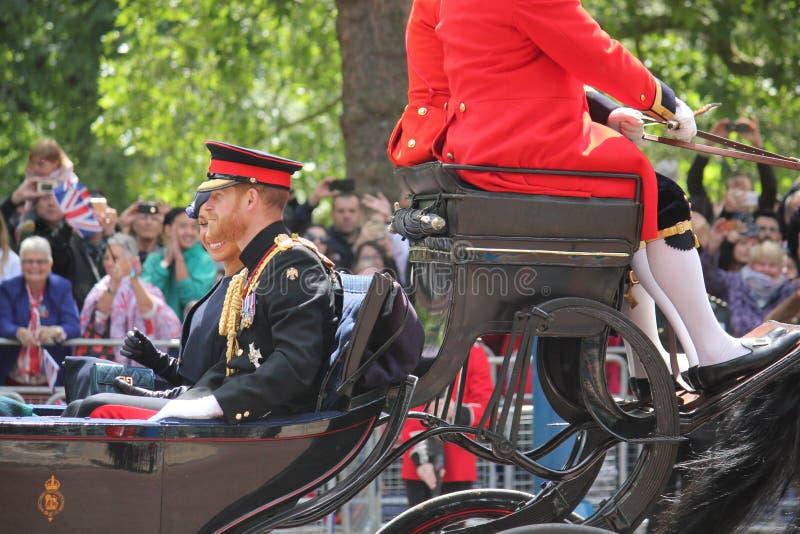 Principe Harry London il Regno Unito 8 giugno 2019 - Meghan Markle Prince Harry George William Charles Kate Middleton immagini stock libere da diritti