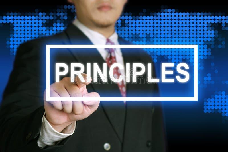 Principes, het Motievenconcept van Woordencitaten royalty-vrije illustratie
