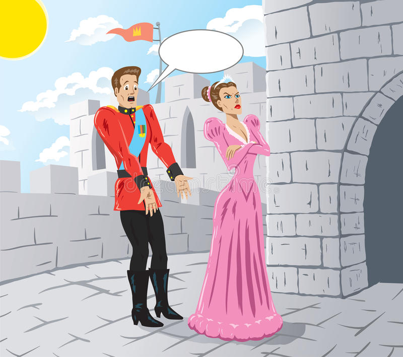 Principessa arrabbiata royalty illustrazione gratis