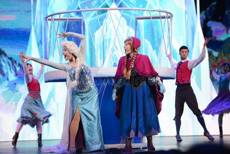 Principessa congelata Disney Elsa ed Anna fotografie stock libere da diritti