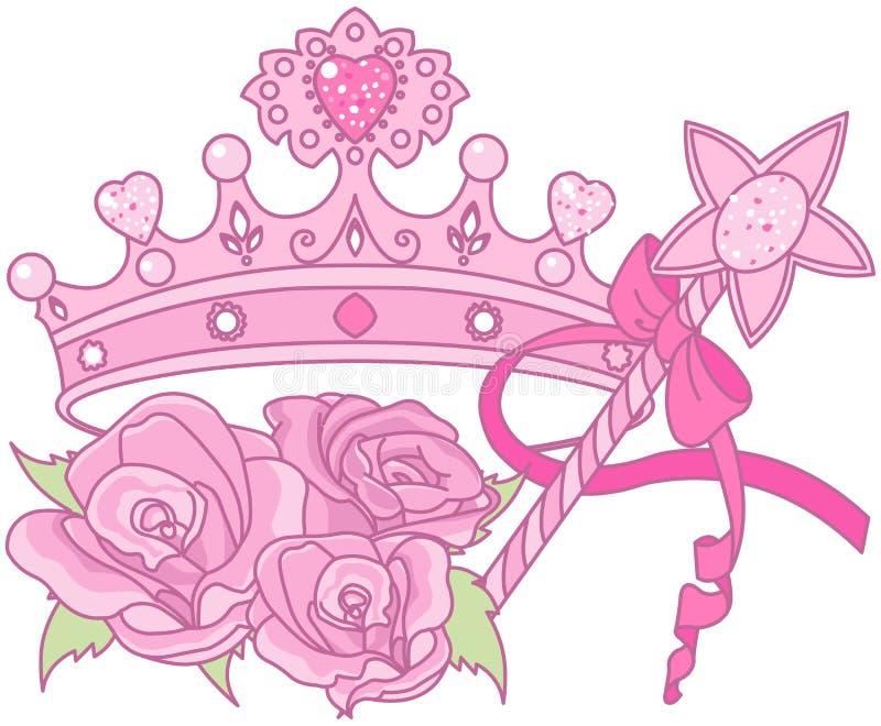 Principessa Crown illustrazione vettoriale