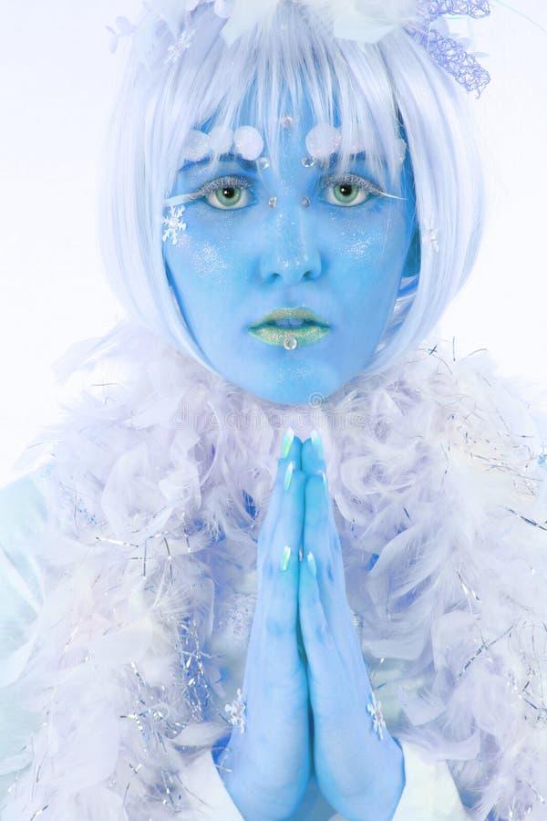 Principessa del ghiaccio fotografie stock libere da diritti