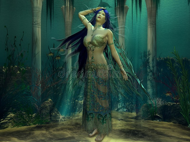 Principessa di Atlantis immagine stock