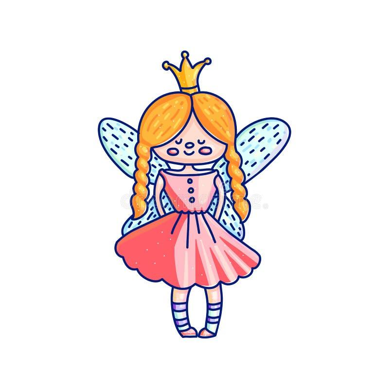 Principessa leggiadramente sveglia illustrazione di stock
