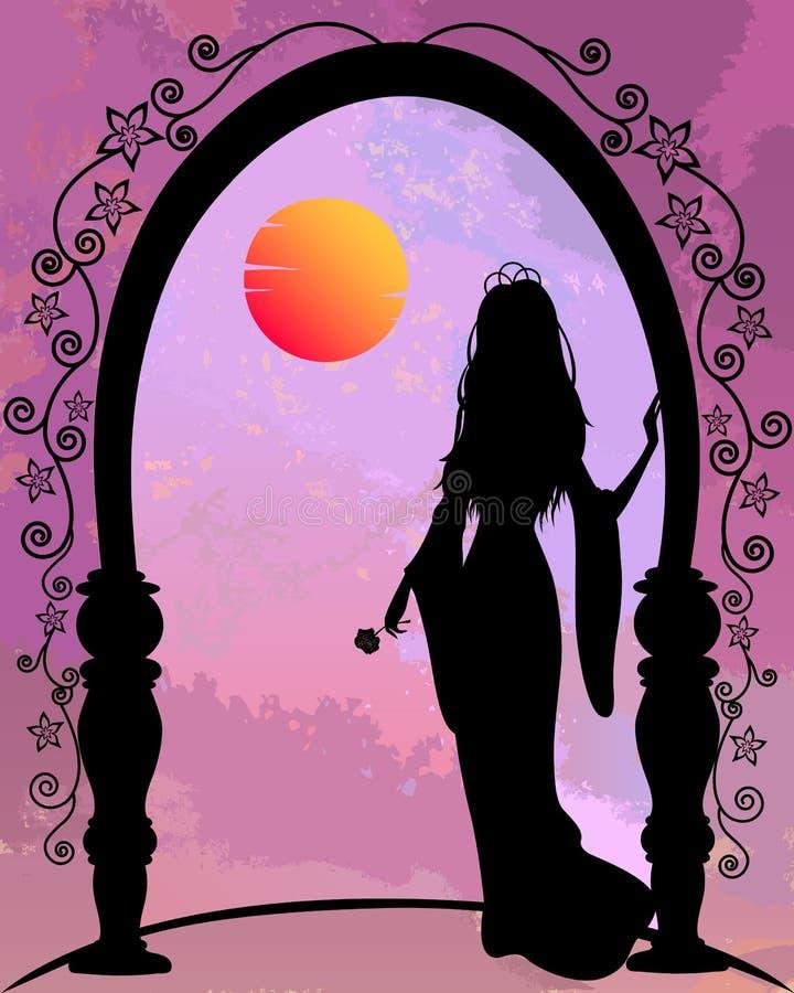 Principessa romantica illustrazione di stock