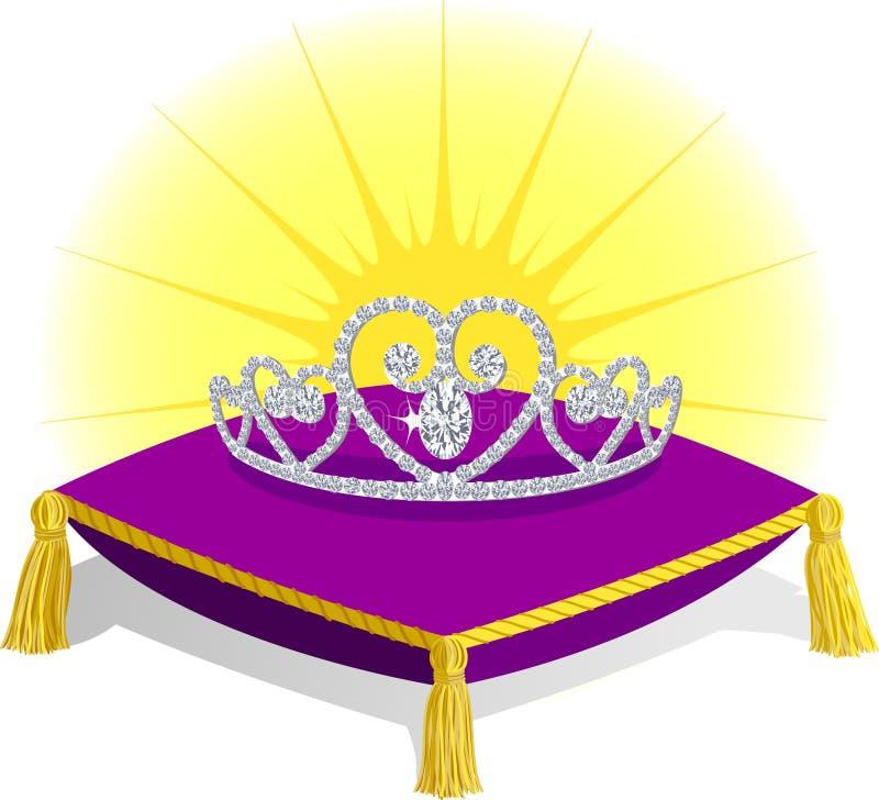 Principessa Tiara sul cuscino royalty illustrazione gratis