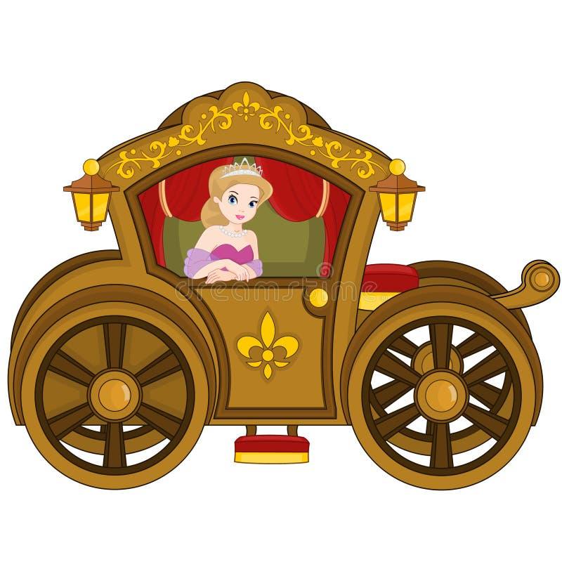 Principessa in trasporto illustrazione vettoriale