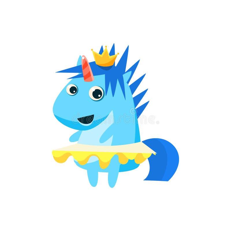 Principessa Unicorn With The Crown royalty illustrazione gratis