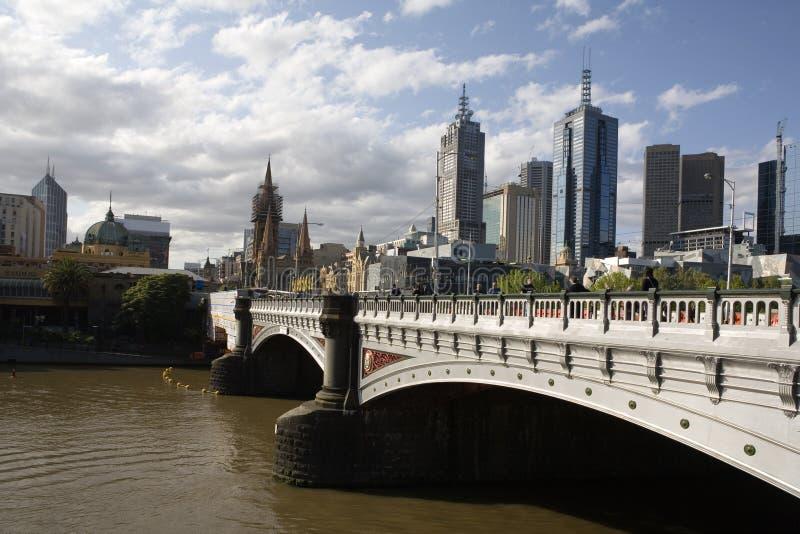 Principi Bridge Melbourne immagine stock