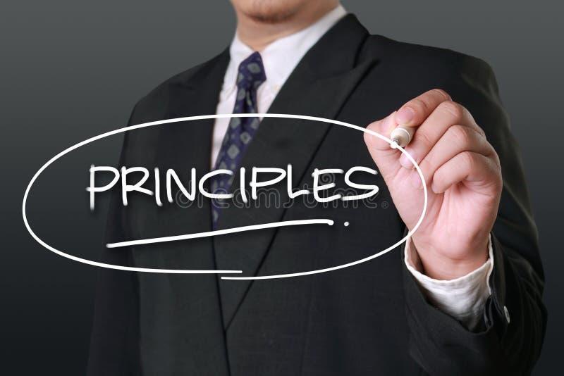 Principi, concetto motivazionale di citazioni di parole fotografia stock