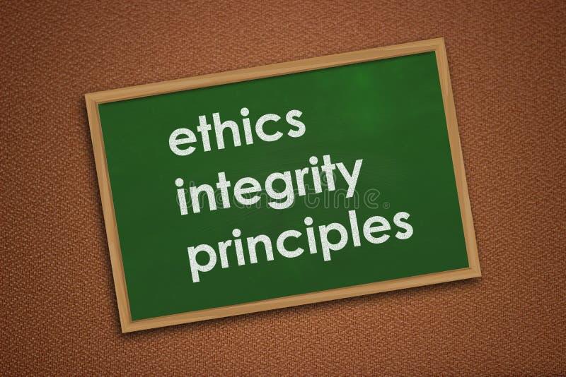 Principi di integrit? di etica, concetto di citazioni di parole di affari fotografie stock libere da diritti