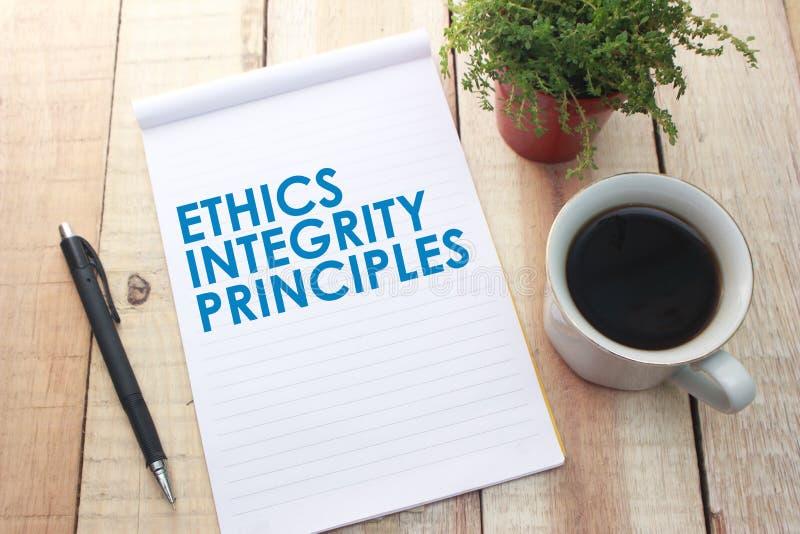 Principi di integrit? di etica, concetto di citazioni di parole di affari immagine stock libera da diritti