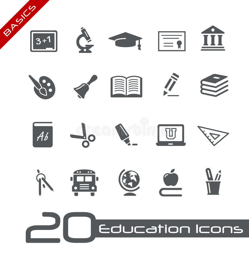 Principi fondamentali di // delle icone di formazione royalty illustrazione gratis