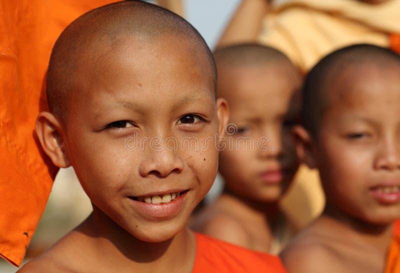 Principiante budista em Luang Prabang, Laos foto de stock royalty free