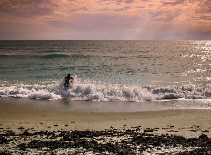 Principiante di pesca di spuma fotografia stock libera da diritti