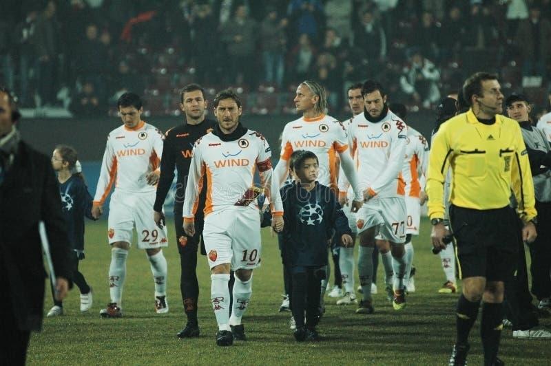 Principio COMO De Roma - Emparejamiento De CFR Cluj Imagen de archivo editorial