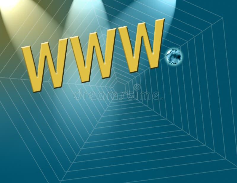 Principio del Internet ilustración del vector