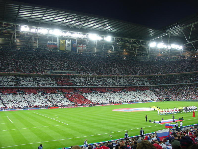Principio del partido de fútbol. fotos de archivo libres de regalías