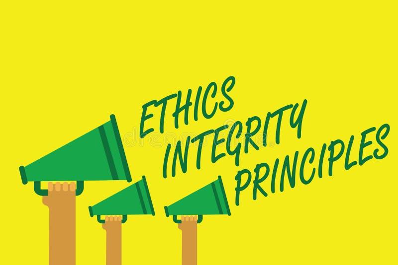 Principios de la integridad de los éticas de la escritura del texto de la escritura Calidad del significado del concepto de ser h libre illustration