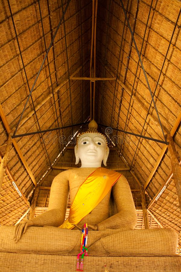 Principle buddha image weave with bamboo