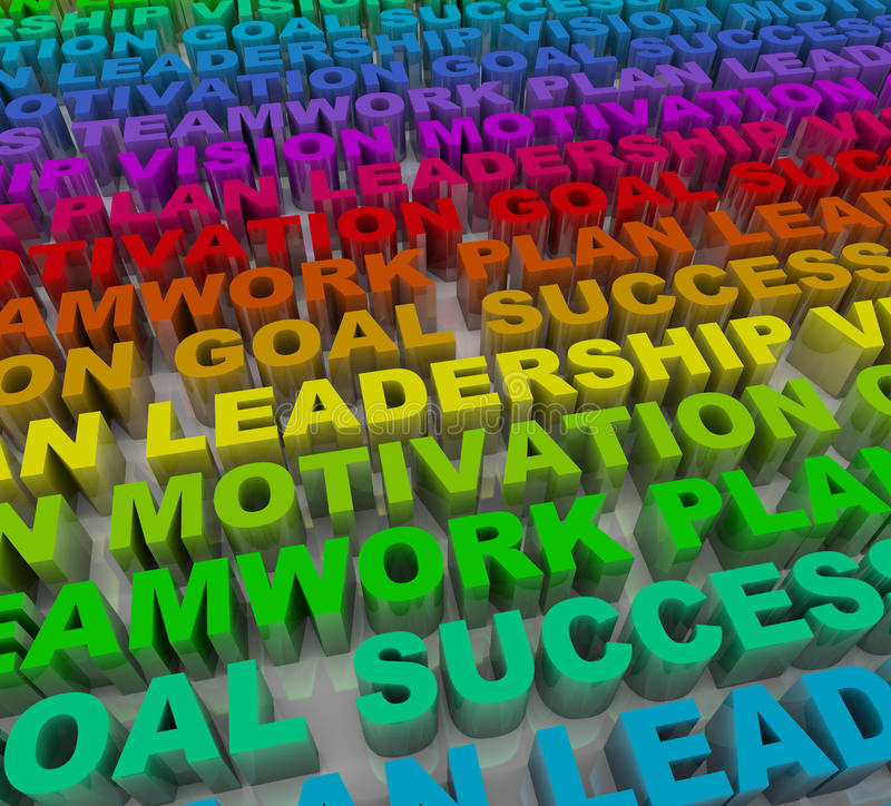 Principles of Success - Colorful Words stock illustration
