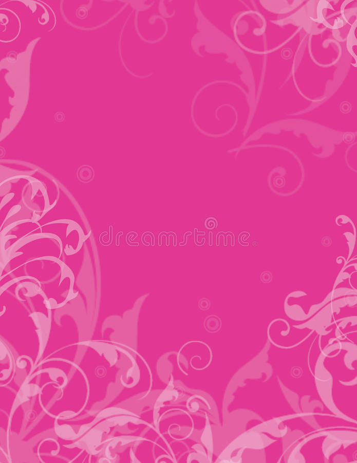Prink Blumenhintergrund stock abbildung