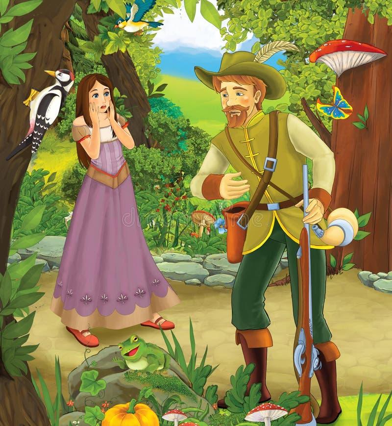 Prins eller prinsessa - slottar - riddare och feer royaltyfri illustrationer