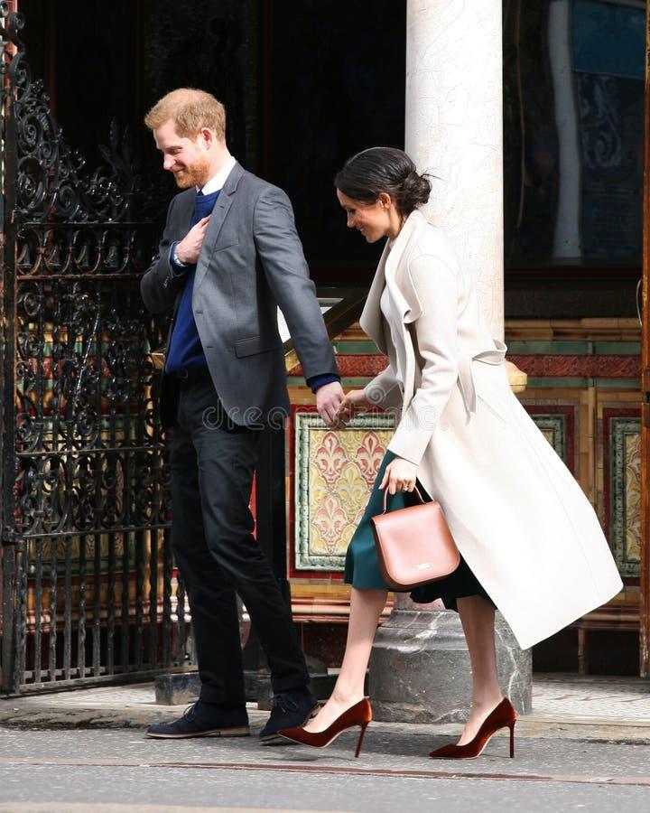 Prins Harry en Meghan Markle 2018 stock afbeelding