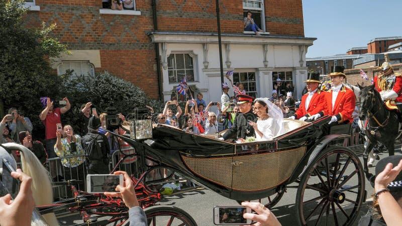 Prins Harry, hertig av Sussex och Meghan, hertiginna av Sussex tjänstledigheter arkivfoton