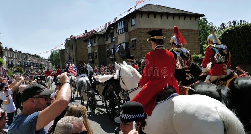 Prins Harry, hertig av Sussex och Meghan, hertiginna av Sussex tjänstledigheter arkivbild