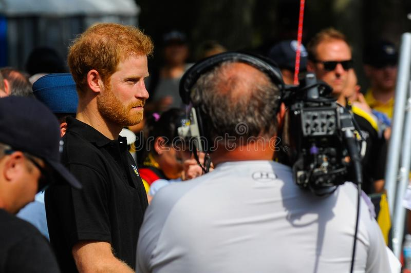 Prins Harry under Invictus lekar royaltyfri bild