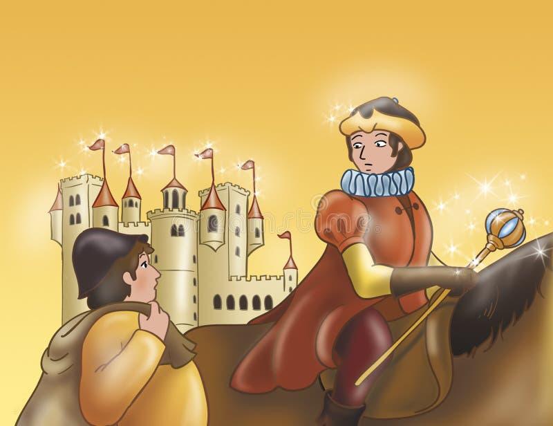 Prins op paard-fee verhalen vector illustratie