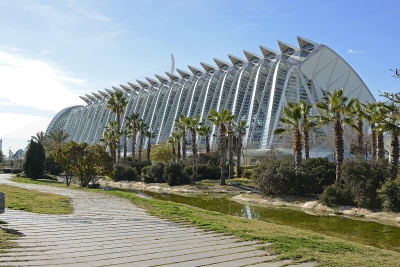Prins Philip Science Museum in Valencia spanje stock afbeeldingen