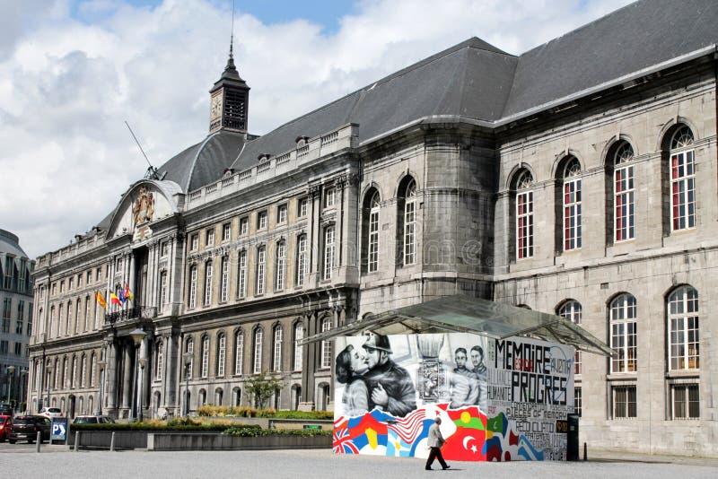Prinsbischop Palace Liege stock afbeelding