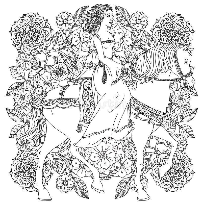 Prinsen från en saga stock illustrationer