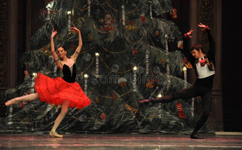 Prinsen och prinsessan av Spanien det andra för handling för fältgodis i andra hand kungariket - balettnötknäpparen royaltyfria bilder