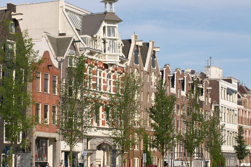 Prinsengracht, Amsterdam. The Prinsengracht, one of the canals in Amsterdam, The Netherlands stock photo