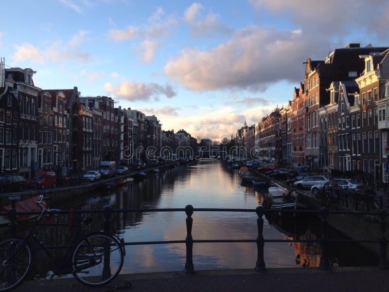 Prinsengracht Amsterdam at a winter stock photos
