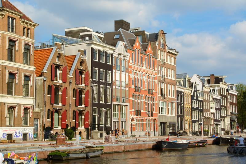 Prinsengracht canal in Amsterdam, Netherlands stock photography
