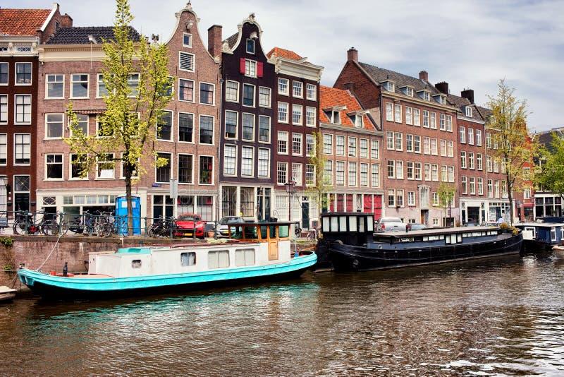 Prinsengrachtkanaal in Amsterdam stock afbeelding