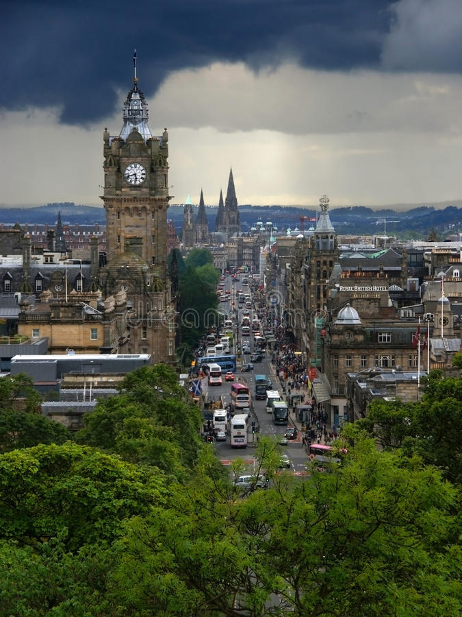 Prinsenstraat in Edinburgh royalty-vrije stock afbeelding