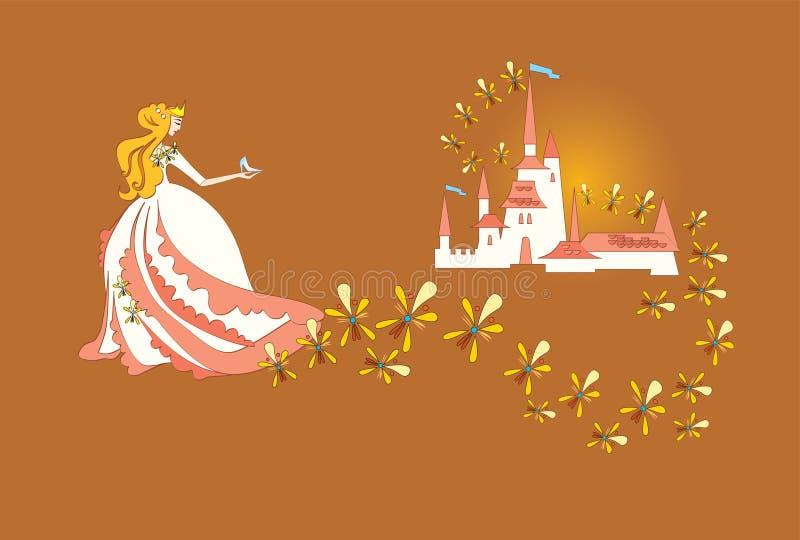 Prinses royalty-vrije illustratie