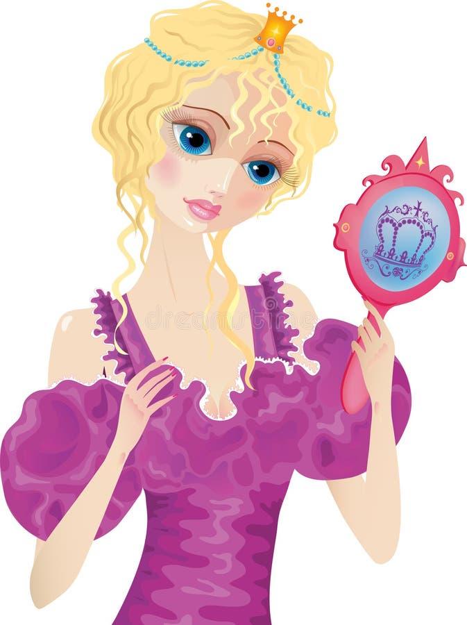 Prinses stock illustratie